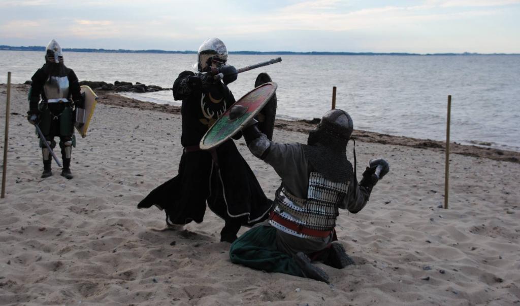 Kämpfen am Strand - Raid at Veer Förden